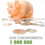Как сэкономить 1000000. Инструкция поприменению