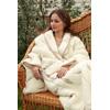 Теплый халат из шерсти мериноса с карманами для мужчин и женщин
